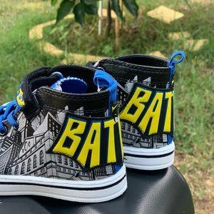 Shoes - Batman Logo Casual High-Top Sneaker Toddler Shoe